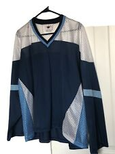 Paw Roller Hockey Jersey Adult Xxl Mesh Navy And Sky Blue & White