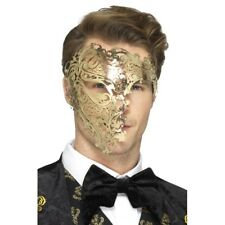 Deluxe Metal Filigree Phantom Gold Adult Mask