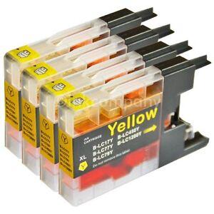 4 Patronen für Brother für den Drucker MFC-J5910DW LC 1280 XXL NEU yellow