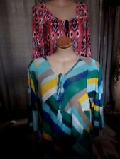 Plus Polyester Multi-Colored Tops & Blouses for Women