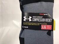 Under Armour Compression Hockey Socks Senior Size NEW *2 PAIR OF SOCKS*