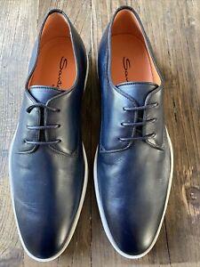 Santoni Rain-CLBU42 Plain Toe Derby Sneaker US size 9 NWB