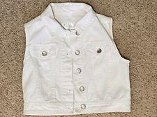 Vest-sleeveless-white-gir ls-size 8/10