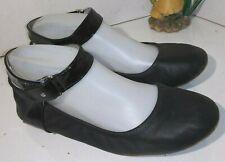 Tsubo Hedi Black Leather 1005992-Black - Ballet Flats Womens Size 7