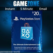 PlayStation Network $20 USD Code - 20 Dollar PSN US Store Card - PS4/PS3/PSP USA