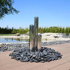 Edelstahl Säulen poliert für Brunnen Springbrunnen Zierbrunnen mit LED für Außen