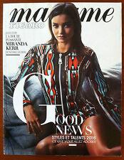 Madame Figaro du 4/03/2016; Spécial Good News Style et talents/ Miranda Kerr