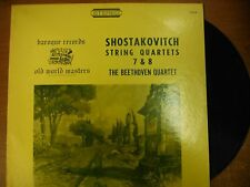 33 RPM Vinyl D.Shostakovitch String Quartets 7&8 Baroque Records Stereo 012615SM