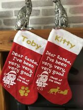 Personalised pet christmas stocking.