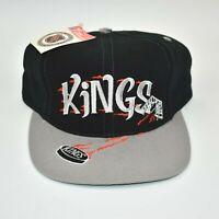 Los Angeles Kings Twins Enterprise Big Logo Puck Brim Vintage Snapback Cap Hat