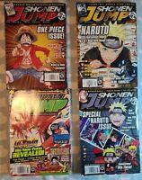 Shonen Jump Magazine Lot 4 Naruto, One Piece, Yu-Gi-Oh! 2010 2011 2012