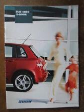 FIAT STILO 5-DOOR RANGE orig 2002 UK Mkt Sales Brochure
