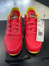 NEW! Jurassic Park Red Reebok Classic Leather Kids Size 12 Rare Collaboration!