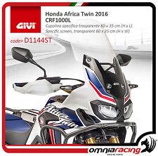 Honda CRF 1000 Africa Twin 2016 - Wind Ecran Touring Givi D1144ST + 14,5 cm
