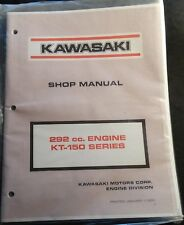 1970 Kawasaki 292 Cc Engine Kt-150 Series Shop Service Manual Copy Arctic Cat