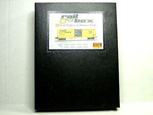 MICRO-TRAINS N SCALE 8 CAR 50' RIB SIDE BOX CAR RUNNER PACK RAIL BOX  99300816