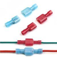 Nylon Flachsteckhülse Vollisoliert Stecker 0,5 - 2,5 mm² Kabel Kabelschuhe 6,3mm
