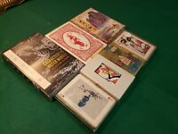 LOT OF 7! Vintage China, Japan, Far East Playing Cards, MOST ORIGINAL BOXES!