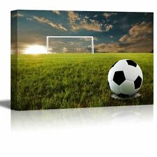 "Canvas Prints Wall Art - Close Up of Soccer Ball on an Open Field - 24"" x 36"""