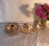 Two Stunning Antique Solid Brass Ink Stands-Art Nouveau/Victorian