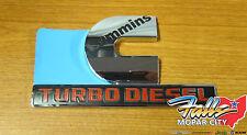 Dodge Ram 2500 3500 Cummins Turbo Diesel Decal Nameplate Emblem Mopar OEM