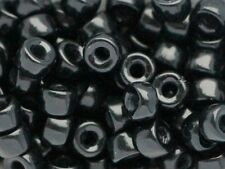 6x4mm Czech Glass Pony Beads 30pcs 2mm large hole Roller beads