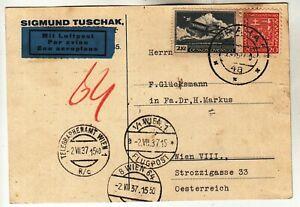 Czechoslovakia Airmail Postcard