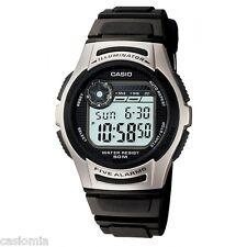 Casio W213-1A Mens Black Digital Sports Watch Dual Time 50M COUNTDOWN TIMER New