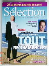 SÉLECTION DU READER'S DIGEST DE NOVEMBRE 2005, EN COUVERTURE TOM HANKS