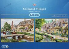 GIBSON, 2x1000 pce complete puzzles, COTSWOLD VILLAGES