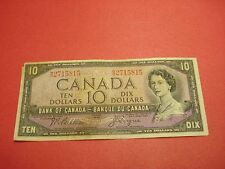 1954 - Canadian $10 bill - ten dollar Canada note - WD2715815