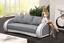 SOFA Couch mit Schlaffunktion Polstergarnitur Wohnzimmer TOP DESIGN - CHER