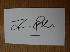50's-2000's Autographed White Card: Peake, Trevor - Coventry City