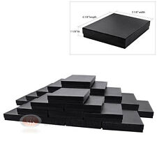 """Large 25 Black Swirl Cotton Filled Jewelry Gift Boxes 6 1/8"""" x 5 1/8"""" x 1 1/8""""H"""