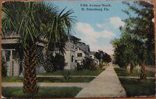 1913 Postcard: Homes on 5th Ave N - St. Petersburg, FL