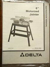 "NOS Delta 6"" Motorized Jointer Literature Lit Pack, Instruction Manual"