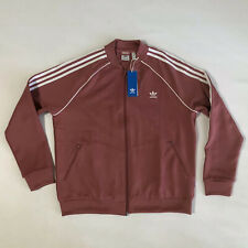 Adidas Womens Pink Striped Fitness Running Track Jacket Athletic Sz XL💰75