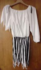 PIRATE DRESS SKIRT BELT STOCKINGS SCARF HALLOWEEN COSTUME ADULT WOMEN'S USED
