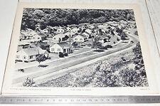 PHOTO ECOLE 1954 GEOGRAPHIE USA VILLAGE DE MINEURS