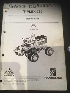 2 x Perkins T-Plex 285 Parts Books Series SE
