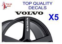 5 X VOLVO ALLOY WHEEL Decals  sticker