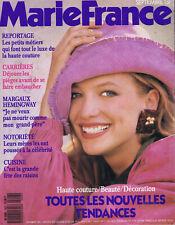 ▬►MARIE FRANCE 403-1989 MARGAUX HEMINGWAY_MODE FASHION YSL-RICCI-CHANEL-LACROIX