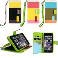 Piel Sintética Multicolor Libro Cartera Funda, Base Cubierta para el iPhone 6 ,