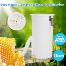 Pro Plastic 2 Frame Manual Bee Honey Extractor Honeycomb Beekeeping Equipment Us