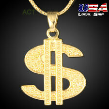 Gorgeous Golden USD Dollar Sign Necklace Pendant Hip-Hop Punk Style Jewelry