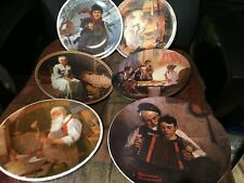 Norman Rockwell Plates Lot Of 6