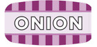 """Onion Labels 1000 per Roll Food Store Flavor Stickers .625"""" X 1.25"""""""
