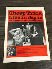 1979 Vintage 8X11 Promo Print Ad For Cheap Trick Live In Japan The Transistors!
