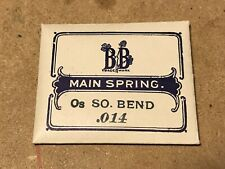 0s No. 22528 - Steel Bogle Brothers Mainspring for South Bend