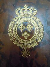 RELIURE AUX ARMES DE FRANCE ROI LOUIS XV 1765 ALMANACH ROYAL MILITAIRE POLITIQUE